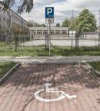 inaktiverad parkering Royaltyfria Bilder