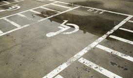 inaktiverad parkering Fotografering för Bildbyråer