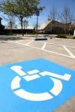 inaktiverade parkeringsplatser royaltyfri foto