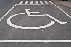 inaktiverat parkerande tecken Royaltyfri Fotografi
