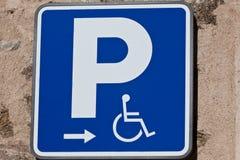Inaktiverat parkerande tecken Arkivbilder