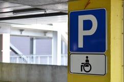 inaktiverat parkerande tecken Royaltyfria Foton