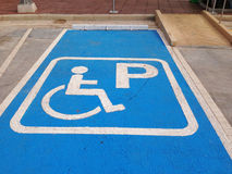 inaktiverat parkerande tecken inaktiverad parkering Royaltyfria Foton