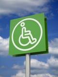 inaktiverat parkerande teckenavstånd Fotografering för Bildbyråer