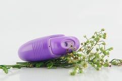 Inalatore della polvere e fiore di erba Fotografia Stock Libera da Diritti