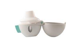 Inalatore di asma della polvere a disposizione Fotografie Stock Libere da Diritti