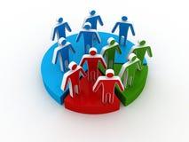 Inancial marketing gegevensstatistieken van cirkeldiagram Stock Foto