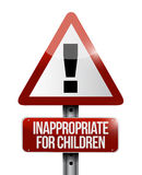 Inappropriate for children warning sign Royalty Free Stock Photos