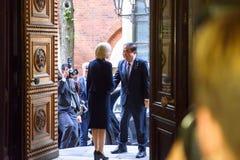 Inara Murniece, m?wca parlament Latvia spotkanie z m?wc? zgromadzenie narodowe Korea ksi??yc ?piewa? obraz royalty free