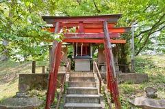 Inari Shinto Shrine in Aizu-Wakamatsu Castle, Japan Stock Photo
