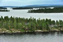 Inari sjö, Finland royaltyfri bild