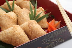 Inari Sushi Wrapped in Fried Tofu, Japanese Food Stock Images