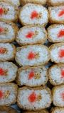 Inarizushi. Homemade japanese dish to be served in a family party Royalty Free Stock Photos