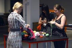 A inauguração do centro da forma de matéria têxtil na Suécia BorÃ¥s 2014 Foto de Stock