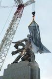 Inauguração do trabalhador da escultura e do W Kolkhoz Fotografia de Stock Royalty Free
