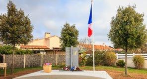 Inauguración de un monumento de los veteranos muertos de la ciudad para Foto de archivo
