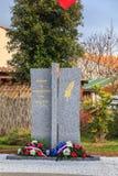 Inauguración de un monumento de los veteranos muertos de la ciudad para Imagen de archivo