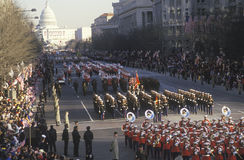 Inaugural Parade down Pennsylvania Avenue Royalty Free Stock Image