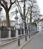Square du Petit Sablon in Brussels, Belgium Royalty Free Stock Images
