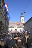 Inauguratie van de President van Kroatië Stock Fotografie