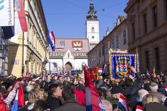 Inauguratie van de President van Kroatië Royalty-vrije Stock Fotografie