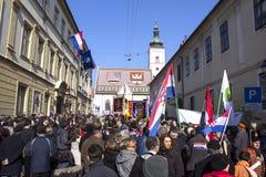 Inauguratie van de President van Kroatië Royalty-vrije Stock Afbeeldingen
