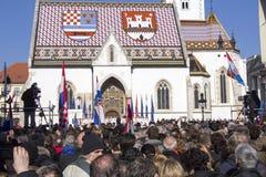 Inauguratie van de President van Kroatië Royalty-vrije Stock Foto's