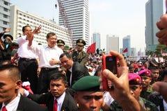 Inauguratie van de Voorzitter en de Ondervoorzitter van Indonesië Joko Widodo en Jusuf Kalla Stock Fotografie