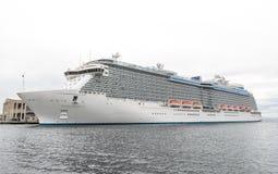 Inauguratie van de Vorstelijke Prinses van het cruiseschip Royalty-vrije Stock Foto's