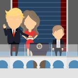 Inauguration d'atout illustration libre de droits