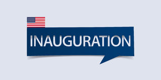 Inauguration Day banner isolated on light blue background. Banner design template. Royalty Free Stock Image
