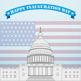 Inauguration Day. Capitol on the background of the American flag Royalty Free Stock Photography