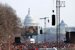 Inauguration de Barack Obama Images libres de droits