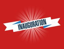 Inauguration red waving ribbon sign illustration design graphic Royalty Free Stock Image