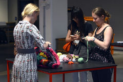 The inauguration of Textile Fashion Center in Sweden Borås 2014 Stock Photo
