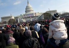 Inaugurazione agli Stati Uniti Campidoglio Fotografia Stock Libera da Diritti