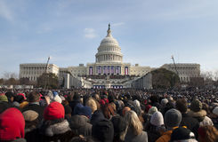 Inaugurazione agli Stati Uniti Campidoglio Immagini Stock Libere da Diritti