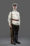 Inbördeskrig i Ryssland, rysk inbördeskrig 1918-1922, vit vakt, T Arkivfoto