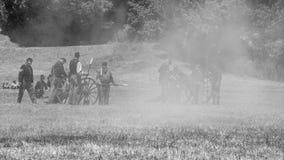 Inbördeskriget som är beträffande-enactement i Duncans, maler, CA, USA Royaltyfria Bilder