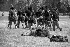 Inbördeskriget som är beträffande-enactement i Duncans, maler, CA, USA Royaltyfri Foto