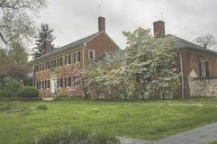 Inbördeskrighögkvarter och sjukhus i vår Virginia Arkivbild