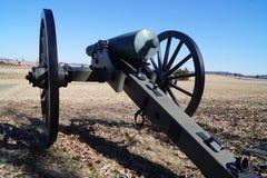 Inbördeskrigkanon på Gettysburg, PA-slagfält Arkivbild
