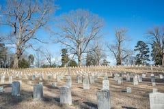 Inbördeskrigkyrkogård Royaltyfria Bilder
