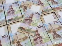 Inbaar honderd roebelsbankbiljet die de Krim afschilderen Royalty-vrije Stock Afbeeldingen
