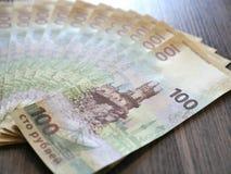 Inbaar honderd roebelsbankbiljet die de Krim afschilderen Royalty-vrije Stock Foto