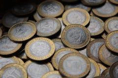 Inbare muntstukken 10 roebels Stock Afbeeldingen