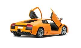 Inbare stuk speelgoed modelauto met open deuren Royalty-vrije Stock Afbeeldingen