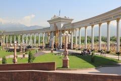 Inbegrepen in het park van president van Kazachstan is in Alma Ata Stock Foto