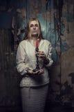 Inbillad flicka med stearinljuset Royaltyfri Fotografi