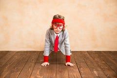 Inbillat barn att vara affärsman Royaltyfri Fotografi